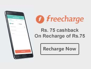 FreeCharge Coupons For New Users
