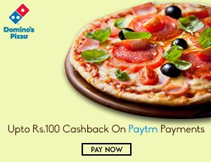 Dominos Paytm Offers