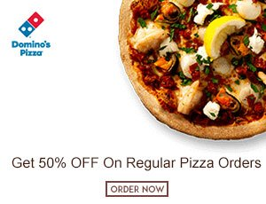 Domino's Regular Pizzas Coupons