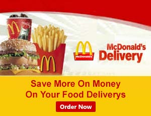 McDonald's Food Delivery Coupons