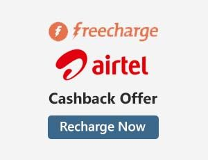 Freecharge Airtel Offers