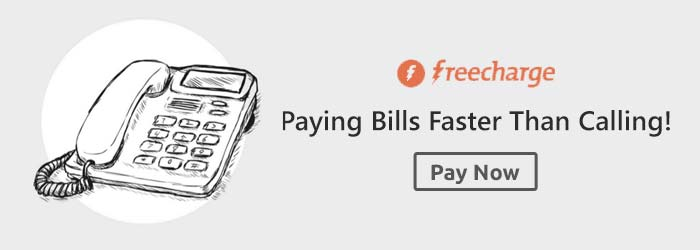 FreeCharge Landline Bill Offers