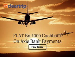Cleartrip Axis Bank Offers
