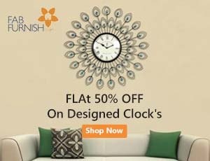 FabFurmish Clocks Coupons