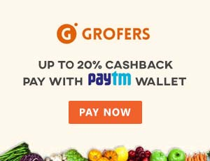 Grofers Paytm Coupon Codes