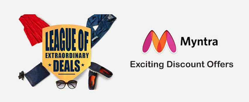Myntra online shopping coupons