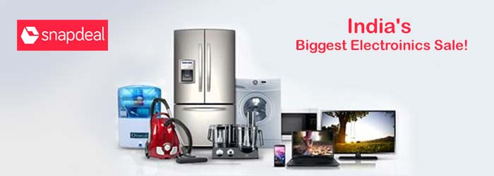 Snapdeal electronics discount coupons